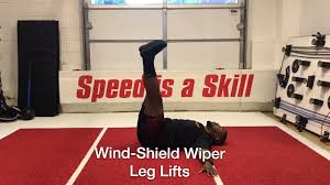 Floor Wiper Exercise Benefits by Wind Shield Wiper Leg Lifts Youtube