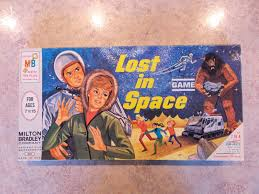 1965 Vintage Milton Bradley Co Lost In Space Board Game Mint Near Box