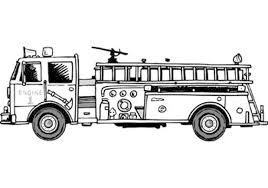 Easy Fire Truck Coloring Pages With Print Download Educational ...