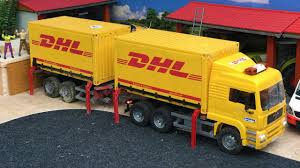 100 Bruder Trucks TOY Video For Kids Toys DHL Container YouTube