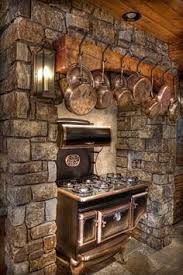 In My Mountain Homestead I Want A Kitchen That Can Be Used Without The Normal Conveniences Ie Wood Burning Stove Rustic Timber Over