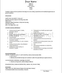 Sample Resume For Registered Nurse With No Experience New Grad Rn Resumes Hola Klonec Co