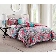 Hello Kitty Bed Set Twin by Amazon Com Vcny Casa Re U0027al Comforter Set Twin Home U0026 Kitchen