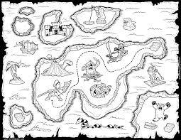 Black And White Treasure Map Printable