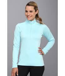 nike thermal half zip pullover in blue lyst