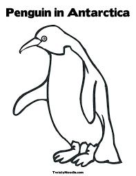 Antarctica Penguin Coloring Page