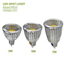 mr16 led spotlights 3w 5w 7w l cup cob led l ac 12v led bulb