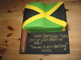The Great Cake Experience Jamaican Flag cake