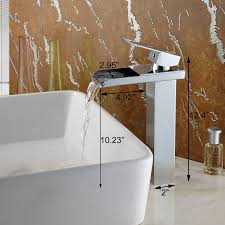 Wall Mounted Waterfall Faucets For Bathroom Sinks by Bathroom Waterfall Faucet Bathroom Vessel Faucet Moen
