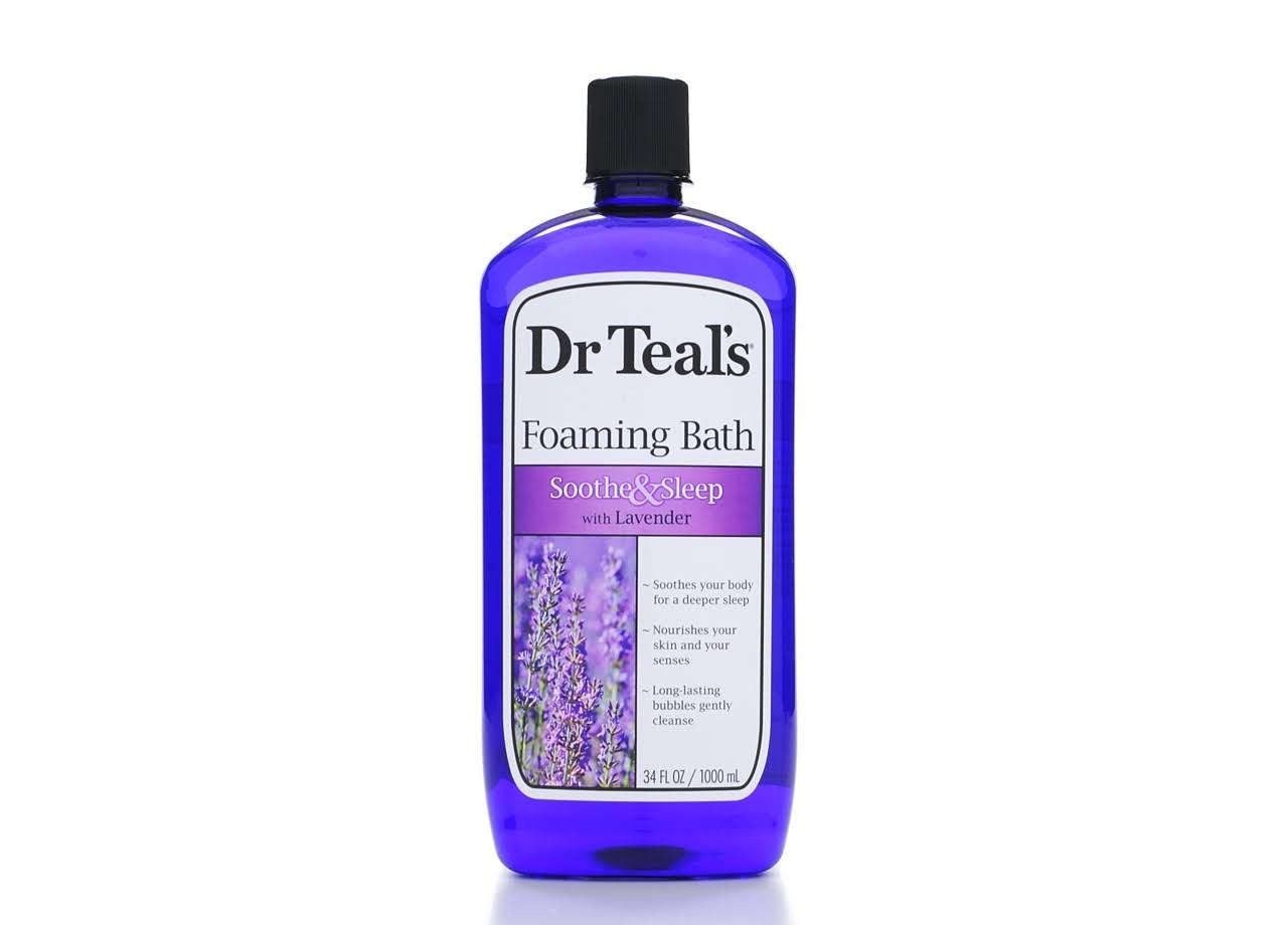 Dr Teal's Soothe and Sleep with Lavender Foaming Bath - 1000ml