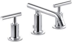 Kohler Fairfax Bathroom Faucet Leak kohler k 14410 4 cp purist widespread lavatory faucet with low
