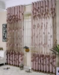 Tropical Window Art Curtains by Feeling Leaf Dark Color Sheer And Window Art Curtains