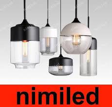 großhandel nimi530 nordic moderne loft vintage len beleuchtung bar restaurant glas kronleuchter kreative persönlichkeit wohnzimmer droplight