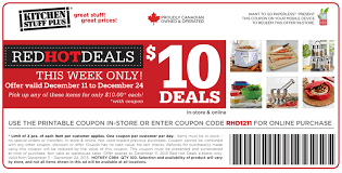 Kitchen Stuff Plus Coupon Code & Printable Coupon for $10 Deals