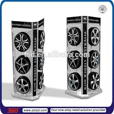 TSD M707 4S Store 4 Side Freestanding Tyre Display Rack Promotion Tire