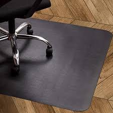 oleoletoy bodenschutzmatte schwarz bürostuhl unterlage 120x90cm für laminat parkett fliesen und hartböden schützen ihren boden vor kratzern