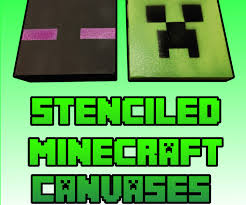 Minecraft Enderman Pumpkin Stencil by Stencil And Spray Your Own Minecraft Canvases For Cheap 5 Steps
