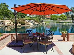 Offset Rectangular Patio Umbrellas by Rectangular Patio Umbrella With Solar Lights Thehomelystuff As