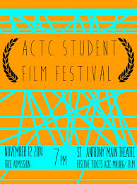 The Film Festival Reel Poster Design By Ben Long University Of St Thomas Student