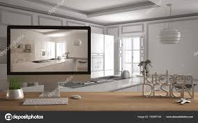 100 Words For Interior Design Architect Designer Project Concept Wooden Table With House
