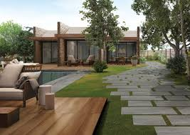 Top 15 Outdoor Tile Ideas & Trends For 2016 - 2017 Tiles Exterior Wall Tile Design Ideas Garden Patio With Wooden Pattern Fence And Outdoor Patterns For Curtains New Large Grey Stone Patio With Brown Wooden Wall And Roof Tile Ideas Stone Designs Home Id Like Something This In My Backyard Google Image Result House So When Guests Enter Through A Green Landscape Enhancing Magnificent Hgtv Can Thi Sslate Be Used