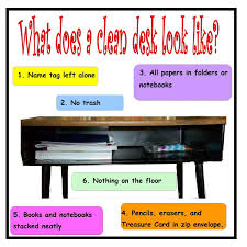 organized student desk clipart OurClipart