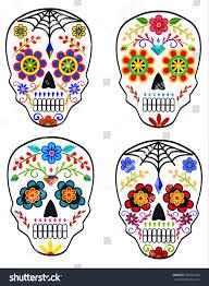 Easy Sugar Skull Day Of by Set Sugar Skulls Mexican Holiday Day Stock Vector 500325343