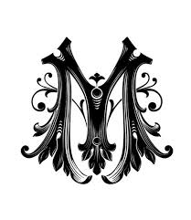 Garnished Gothic Style Font Letter M Download From Over 36