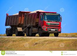 100 Red Dump Truck With The Trailer Stock Image Image Of Freeway