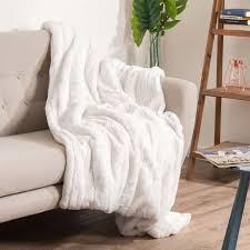 kuscheldecke 230 cm villa weiß