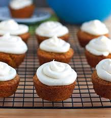 These carrot cake cupcakes are made from a small town blue ribbon recipe Sweet