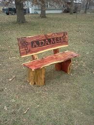 Cedar Name Bench Driftwood FurnitureCedar FurnitureOutdoor FurnitureFurniture IdeasRustic