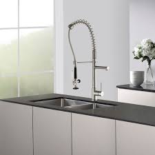 Commercial Style Pre Rinse Kitchen Faucet by Kraus Commercial Style Single Handle Kitchen Faucet With Pull Down