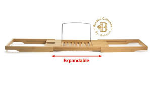 Bamboo Bathtub Caddy With Wine Glass Holder by Bamboo Bathtub Caddies Bathtub Caddy