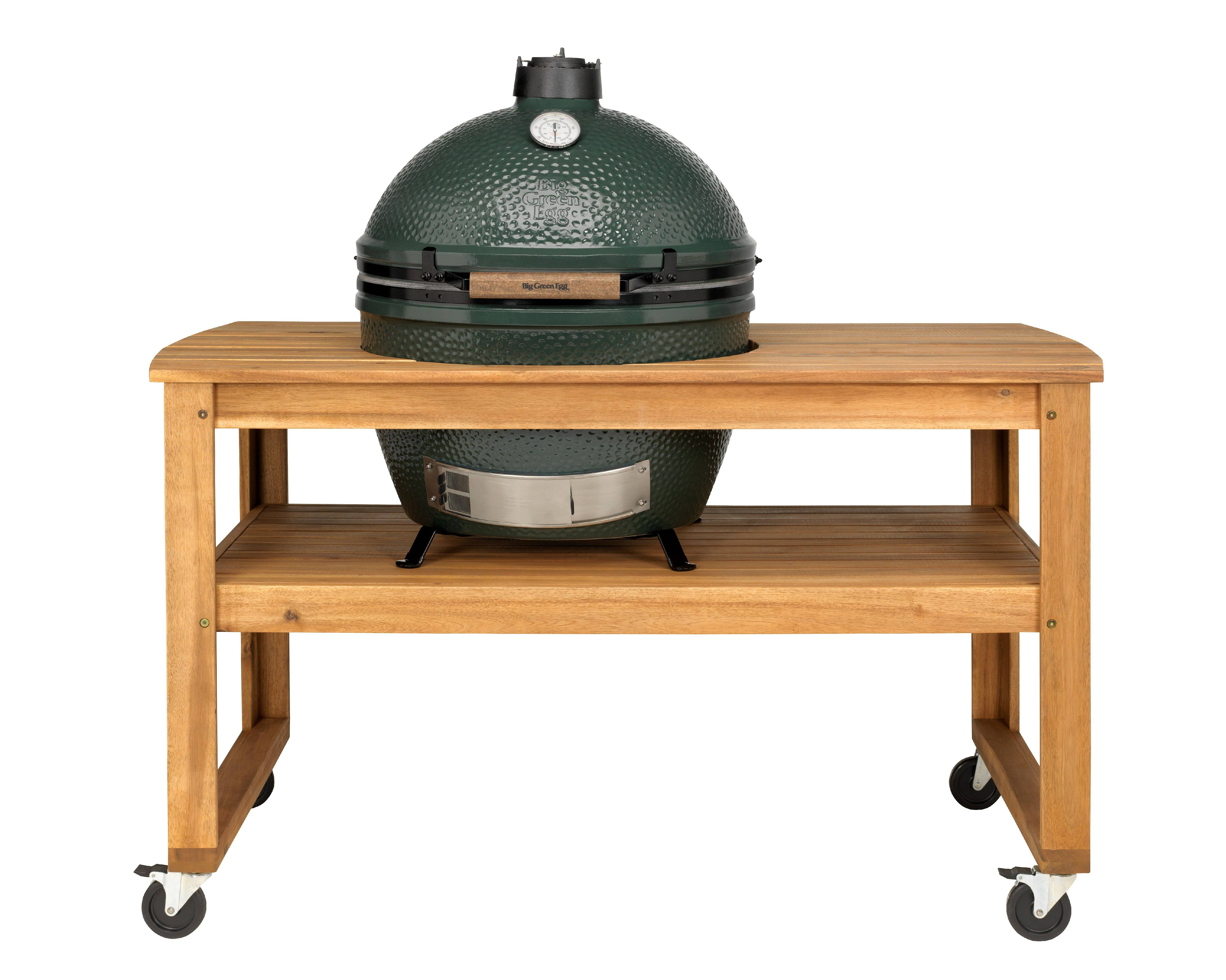 Big Green Egg Acacia Hardwood Table for XL with Casters