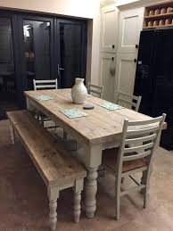Farmhouse Table With Bench Dining Room Furniture Benches Enchanting Best Ideas