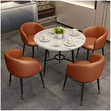 esszimmer set tisch und stühle kombination marmor runde