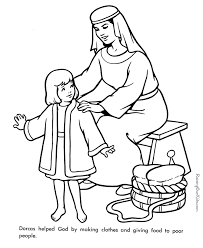 Dorcas Bible Page To Print And Color Coloring Pages For