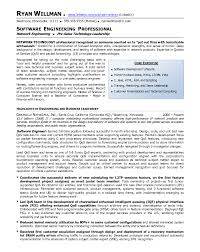 Resume Sample Software Engineer Professional Page 1