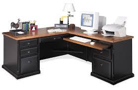 Sauder Camden County Computer Desk by Martin Southampton L Shape Desk In Onyx