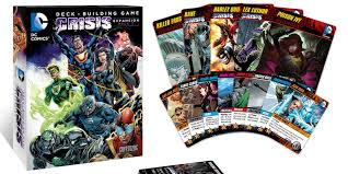 tabletop review dc comics deck building game crisis expansion