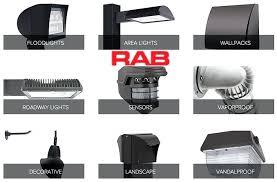 rab led outdoor lighting led flood lights led wall pack light