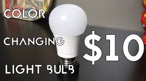 10 color changing light bulb tiktech light bulb review
