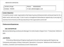 Sample Marketing Accounts Manager Resume Objective