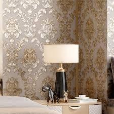 beige grau gold strukturierte luxus klassische 3d damast tapete schlafzimmer wohnzimmer wohnkultur wasserdichte vinyl pvc wand papier rolle
