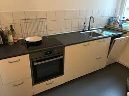 ikea küche weiß inklusive elektrogeräte und waschmaschine
