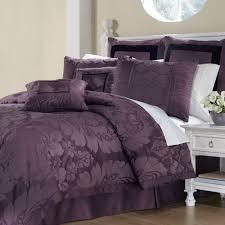 Purple Velvet King Headboard by Lorenzo Damask 8 Pc Comforter Bed Set
