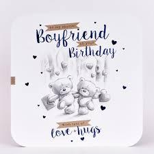 Platinum Collection Birthday Card Hugs Boyfriend £199 Card