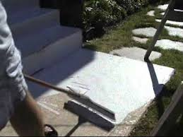 Rust Oleum Decorative Concrete Coating Slate by Spreadable Stone Coating Youtube