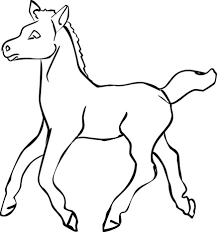 Foal Coloring Pages